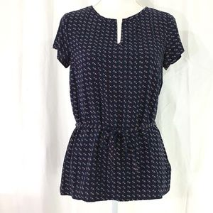 NWOT Tommy Hilfiger blouse blue red white (935)